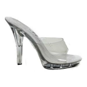 6a256f5246c Shoes - Clear Cinderella Slip On Backless Mule Heel size 8